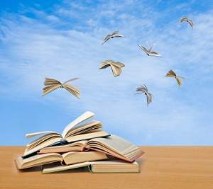 books flying-300x300